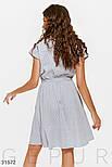 Котоновое платье в мелкую полоску на пуговицах, фото 3
