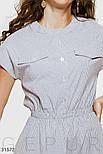 Котоновое платье в мелкую полоску на пуговицах, фото 4