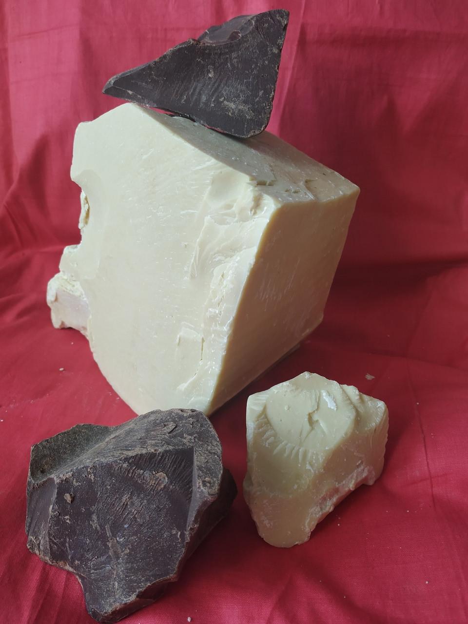 Какао масло Cargill 500 г.+Какао терте 1 кг Моноліт Olam натуральні Кот Д'івуар