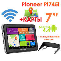 "GPS навигатор Pioneer Pi745i 7"" 8 Ядер  Android 4.4 + Козырек"
