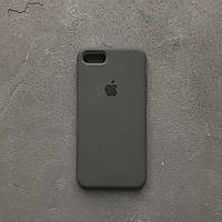 Силиконовый чехол Apple Silicone Case для iPhone 7 / 8 Gray Soft touch Люкс качество чехлы на айфон серый