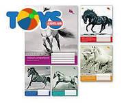 """Тетрадь 36 листов, в линию """"Лошади"""", 5 видов (20 штук в упаковке), ТЕ92480"""