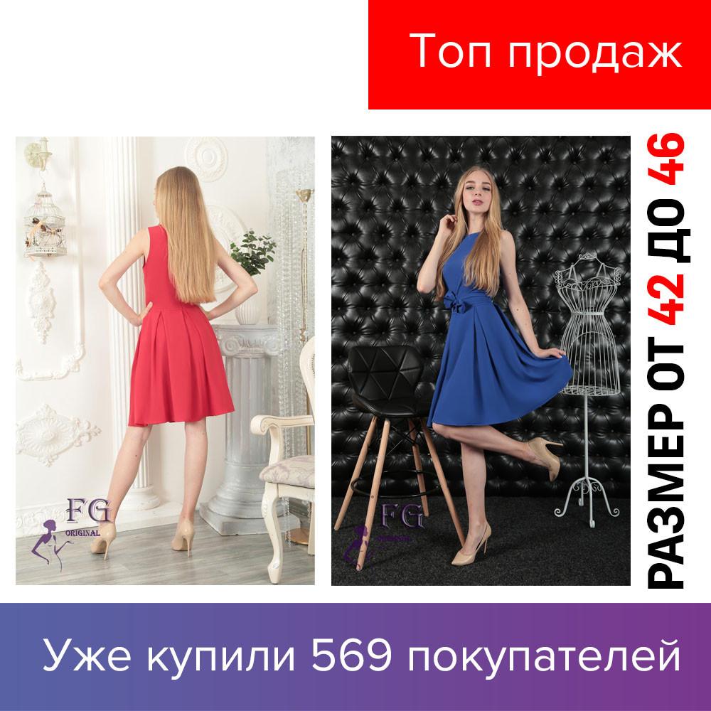 Женское платье, голубое, летнее, красное,мятный, легкое, бант, коктейльное, стильное, универсальное,  2019