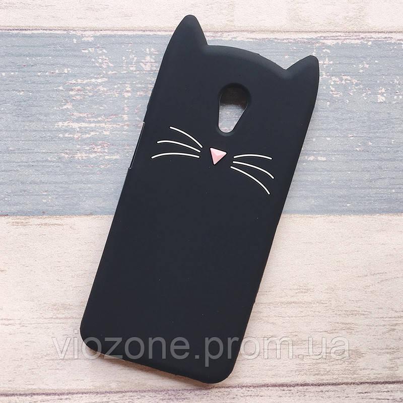 3d Чехол Бампер для Meizu M6 резиновый Кот