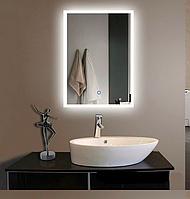 Зеркало LED для ванной 25Вт со светодиодной подсветкой прямоугольное, 90х60см, 3000-4000-6500К