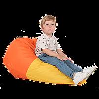 """Детский бин-бэг кресло-груша, ткань Oxford 600 Den, размер 90х60 (желтый/оранжевый) """"Колорит"""""""