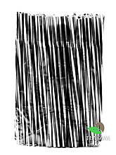 Трубочка фреш коктейльна чорно-біла, кручена з гофрою, d8, 25 см, 100 шт