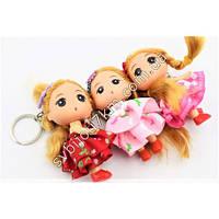 Детский брелок для девочки кукла в платье оптом