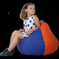 "Бин-бэг кресло-груша, ткань Oxford 600 Den, размер 100х80 (синий/оранжевый) ""Экспрессия"""