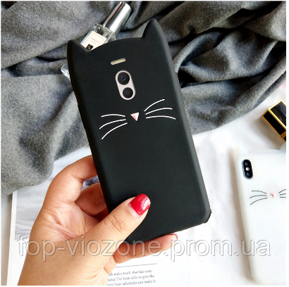 3d Чехол Бампер для Meizu M6 Note резиновый Кот