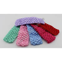 Вязаная детская повязка для головы разных цветов