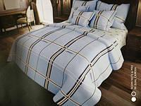 Комплект постельного белья бязь двуспальный размер в крупную клетку