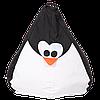 """Большой кресло-мешок """"Пингвин"""" (черный/белый) ткань Oxford 600 Den, размер 130х90"""