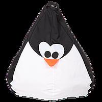 """Большой кресло-мешок """"Пингвин"""" (черный/белый) ткань Oxford 600 Den, размер 130х90, фото 1"""