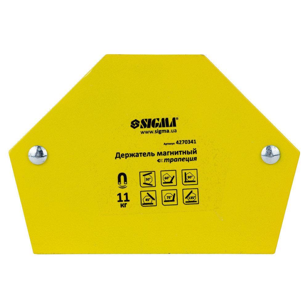 Магнит для сварки Sigma трапеция 11кг 78×32×47×28,5мм (30,45,60,90,75,135°)  (4270341)