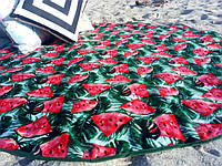 Круглое, пляжное полотенце,коврик,  арбуз. Турция