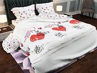 Постельное белье «Бязь Сердце» двуспального размера
