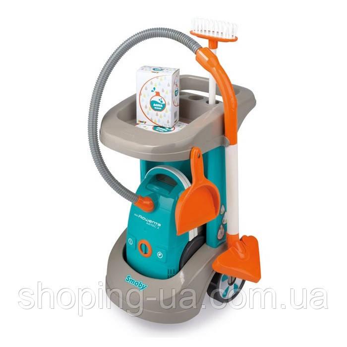 Тележка для уборки с пылесосом Rowenta Smoby 330306