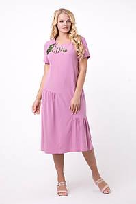 Летнее женское платье с гипюром, 52-60