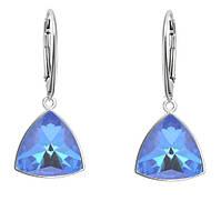 Серебряные серьги с кристаллами Swarovski Ocean DeLite 4799 Kaleidoscope Triangle