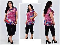 Женские летние костюмы, футболка и бриджи, фото 1
