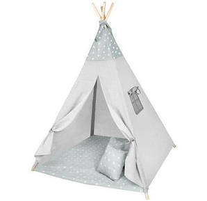 Детская палатка Типи серые звезды