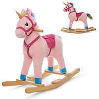 Качалка лошадь розовая MP 1889