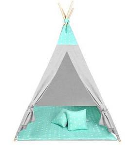 Детская палатка Типи Мята Звезды