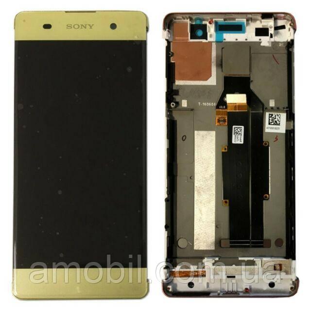 Дисплей + Сенсор з рамкою Sony Xperia XA F3111 / F3112 / F3113 / F3115 / F3116 orig gold