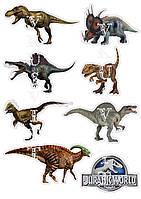 Съедобная печать на вафельной бумаге Динозавры  (06)