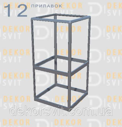 Конструктор (каркас) кутові вітрини та прилавки з алюмінієвого профілю (2578)1449,2576,2721