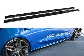 Диффузор порогов юбка сплиттер тюнинг Ford Focus MK4 ST-LINE
