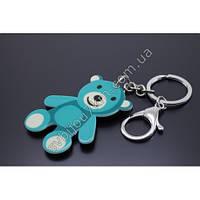 """Оригинальный брелок  для ключей с карабином """"Голубой мишка"""" оптом"""