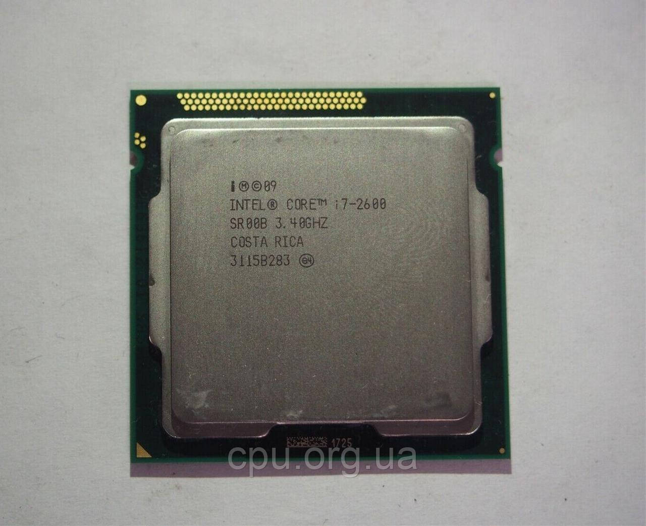 Процессор Intel Core i7-2600 LGA1155 (SR00B) 4 ядра 8 потоков 3.40-3.80Ghz / 8M / 5GT/s IvyBridge