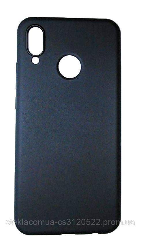 Силиконовый Чехол для Huawei P 20 Lite Черный