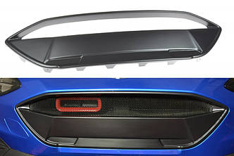 Решетка переднего бампера тюнинг Ford Focus MK4 ST-LINE