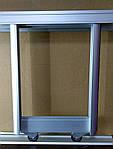 Комплект профилей раздвижной системы шкафа купе 1400х600, две двери, серебро