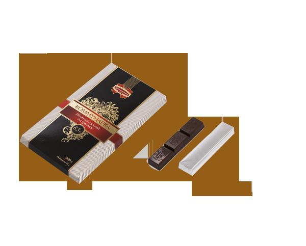 "Белорусский горький десертный шоколад ""85%"" 200 гр ТМ Коммунарка"