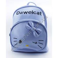 "Рюкзак для девочки голубого цвета с рисунком кошечки ""Kids backpack"""
