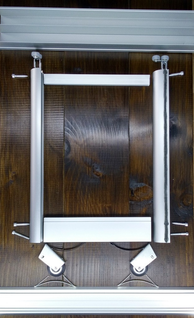Комплект профилей раздвижной системы шкафа купе 1400х1600, две двери, серебро