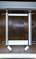 Комплект профилей раздвижной системы шкафа купе 1400х1600, две двери, серебро, фото 1