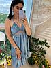 Женский летний сарафан с рюшами в расцветках. Д-1-0719, фото 2