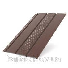Панель софит перфорированная 310x4000 (1.22m2) Bryza Коричневый