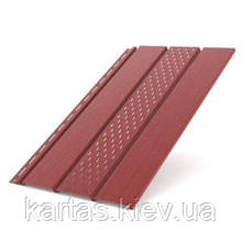 Панель софит перфорированная 310x4000 (1.22m2) Bryza Красный