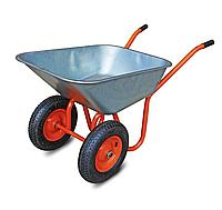 Тачка двухколесная строительная (садовая) 72 л грузоподъемность 160 кг