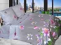 """Комплект постельного белья """"Цветы"""" двуспальный"""