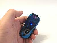 Электроимпульсная зажигалка Mercedes-Benz портативная электронная аккумуляторная USB / Синий металик (5407), фото 1