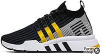 Мужские кроссовки Adidas Equipment Support Mid ADV PK (Core Black / Eqt Yellow / Ftwr White)