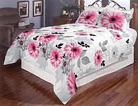 Двуспальный комплект постельного белья с герберами