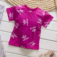Детская футболка для девочки в стиле Адидас 1-4 года